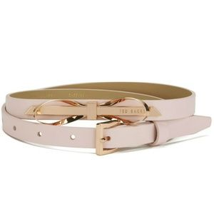67e56764752462 💕Ted Baker💕 Bowana Skinny Bow Leather Belt Pink